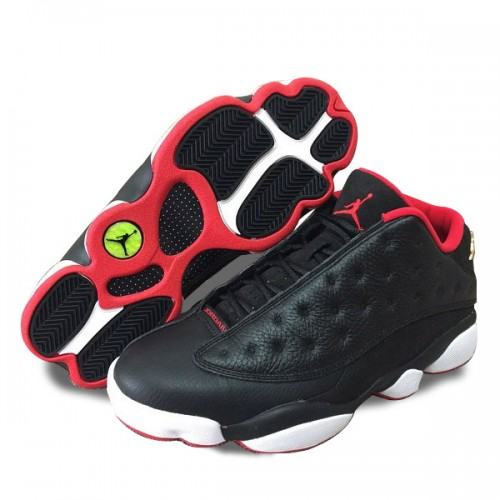 Authentic 310810-027 Air Jordan 13 Retro Low Black/Metallic Gold-University Red-White
