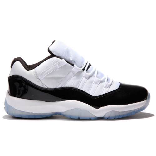 528895-153 Air Jordan 11 Retro Low White/Black-Dark Concord Grade School's Shoe