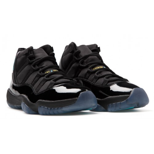Air Jordan 11 Retro 378037-006 Black/Gamma Blue-Black-Varsity Maize Grade School's Shoe