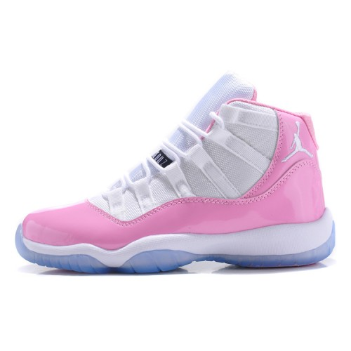 Air Jordan 11 Retro Womens Shoes White-Pink