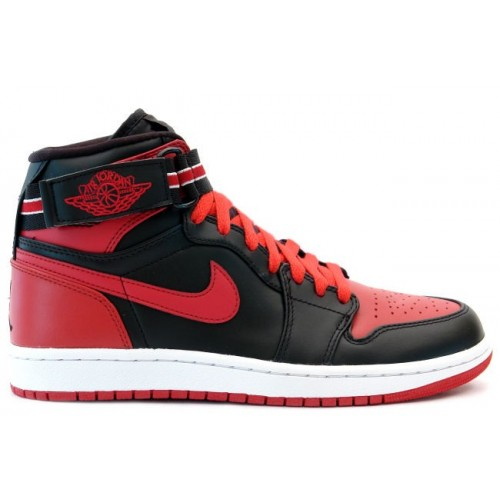 342132 061 Air Jordan 1 Retro Mens Basketball Shoes High Strap Black Red A01012
