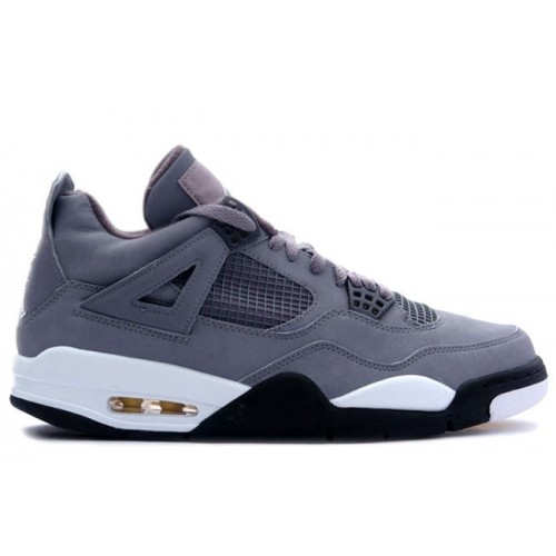 308497-001 Air Jordan 4 Cool Grey Chrome Dark Charcoal Varsity Maize A04001
