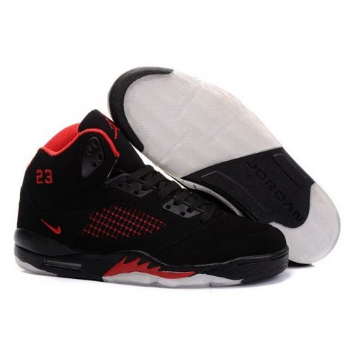 Air Jordan V 5 Retro Black red A05014
