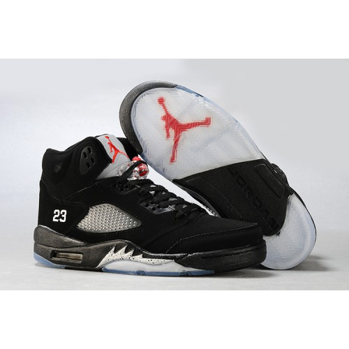 Air Jordan 5 Retro Black Metallic Silver (Women Men GS Girls)