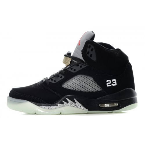 Air Jordan 5 Retro White Grey Mens Luminous Bottom Shoes
