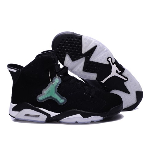 Air Jordan 6 Retro Mens Noctilucent tags Shoes Black White
