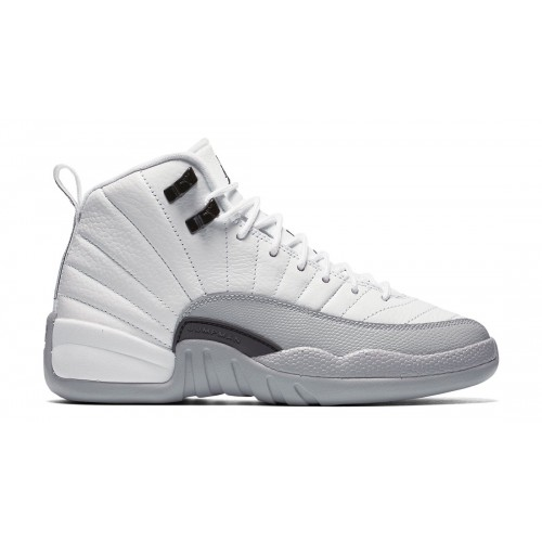 "Authentic 510815-108 Air Jordan 12 Retro ""Barons"" White/Black-Wolf Grey"