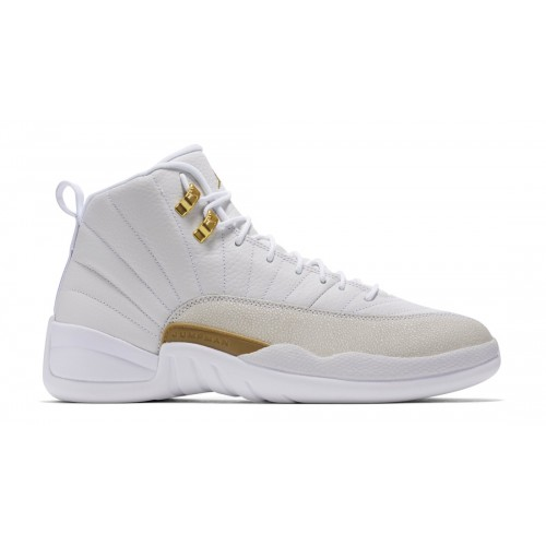 Authentic Air Jordan 12 Retro X OVO White/Metallic Gold-White 873864-102