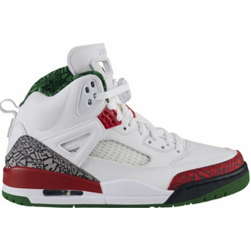 Authentic 315371-125 Jordan Spiz'ike White/Varsity Red-Cement Grey-Classic Green
