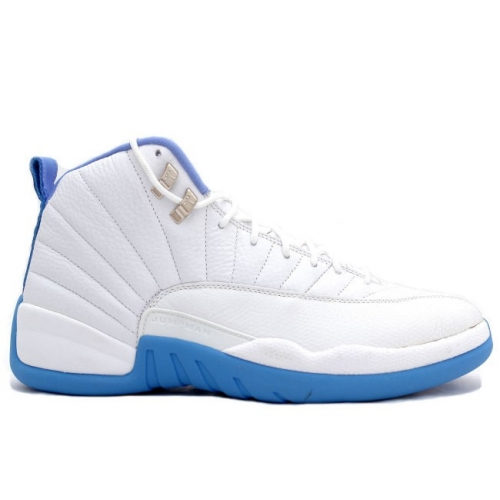 308243-142 Air Jordan 12 Retro Womens White University Blue A24009