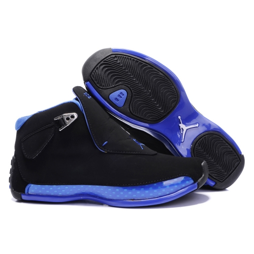 305869-107 Air Jordan 18 Original OG Women Black Blue A24004